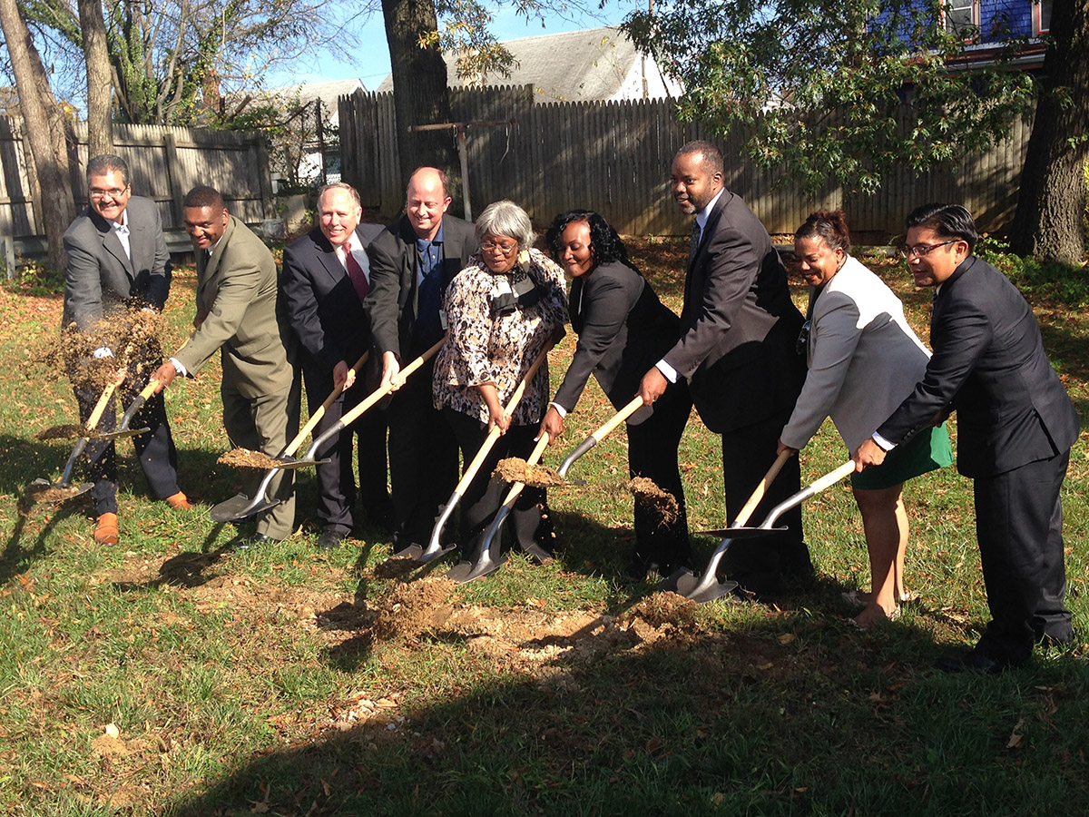 Ground breaking at Net Zero Energy House