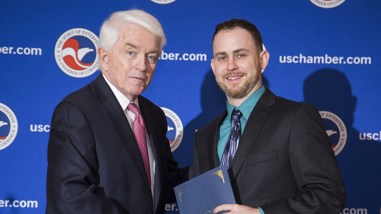greeNEWit Co-Founder Matej Harangozo at the 2016 U.S. Chamber Small Business Summit